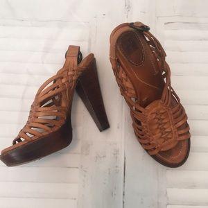 Frye Joy Huarache Leather platform sandals sz 7